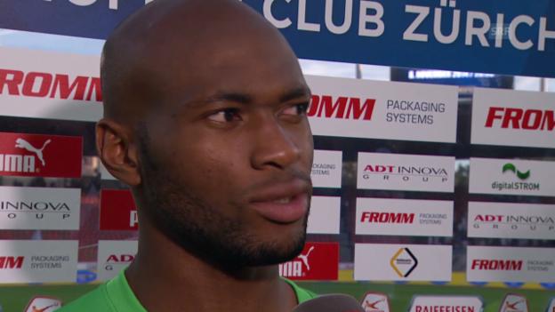 Video «Fussball: Super League, GC - FCZ, Interview mit Franck Etoundi» abspielen