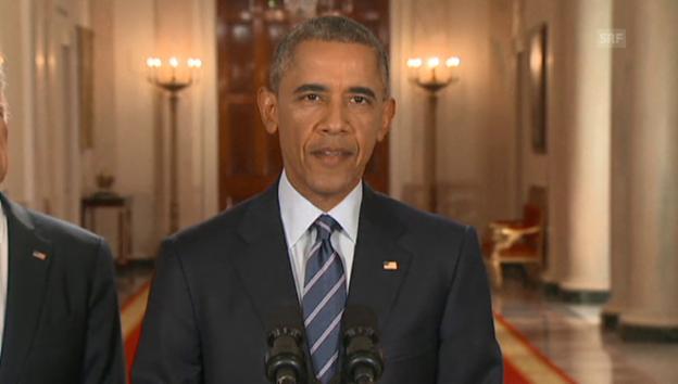 Video «US-Präsident Barack Obama zum Abkommen mit Iran» abspielen