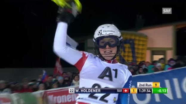 Video «Slalom Semmering: Holdeners 2. Lauf» abspielen