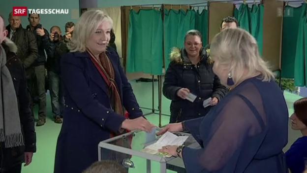 Video «Zweite Runde bei Frankreichs Regionalwahlen» abspielen