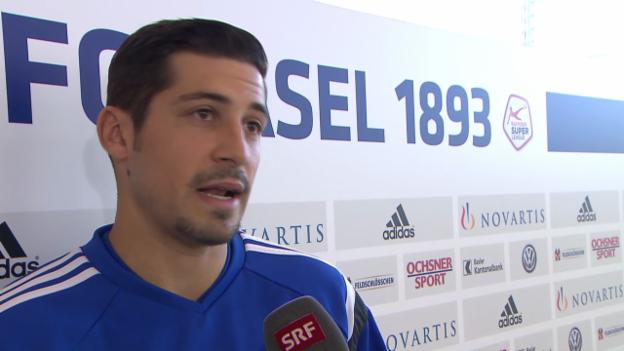 Video «Fussball: FCB-Akteur Calla vor dem Klassiker gegen GC» abspielen
