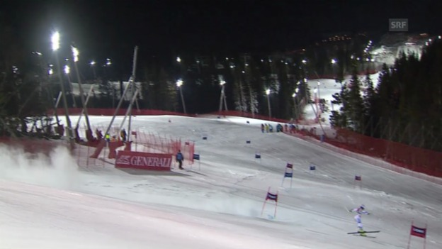 Video «Ski: Riesenslalom Are, 2. Lauf Murisier» abspielen