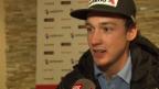 Video «Ski: WM in Vail/Beaver Creek, Luca Aerni vor dem Slalom» abspielen
