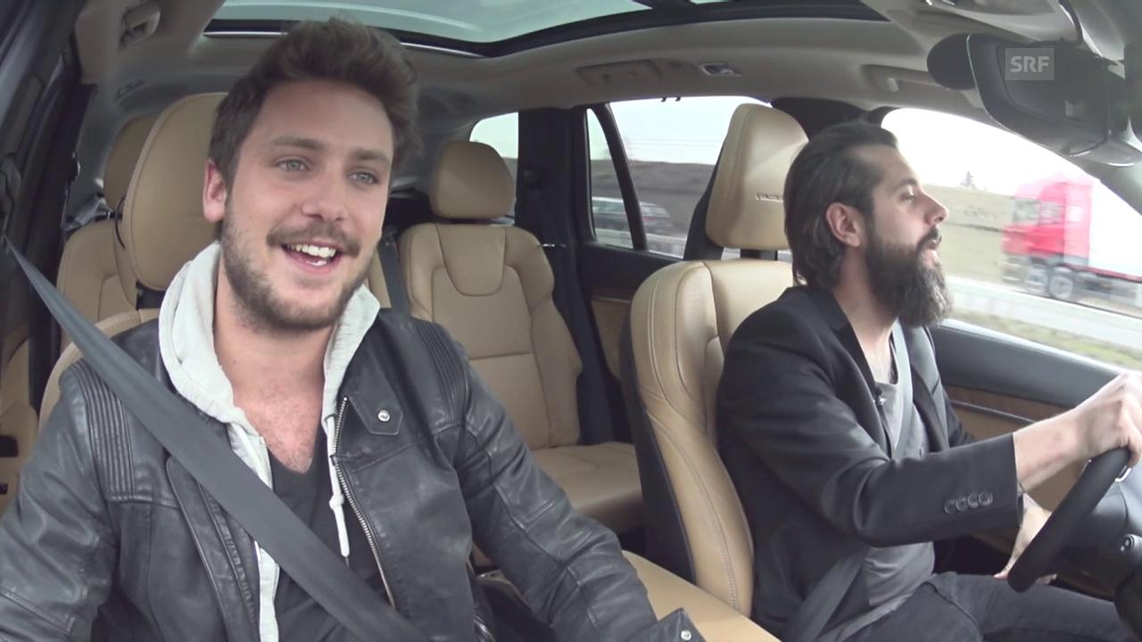Beifahrer-Karaoke mit Bastian Baker und Andi Rohrer