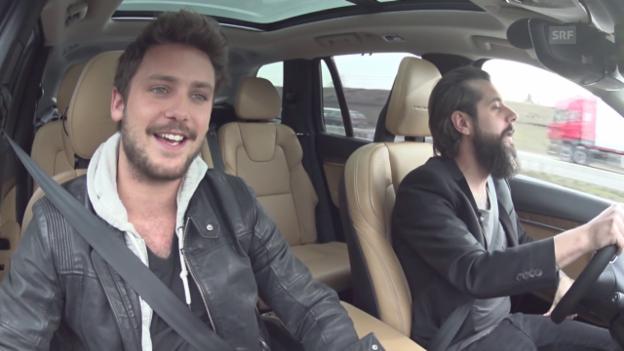 Video «Beifahrer-Karaoke mit Bastian Baker und Andi Rohrer» abspielen