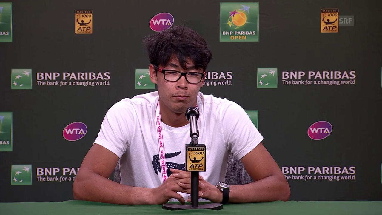 Chung: «Federer spielt dieses Jahr sehr gut» (engl.)