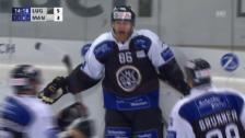 Video «Eishockey: Spengler Cup 2015, Lugano-Adler Mannheim, 5:3 Klasen» abspielen