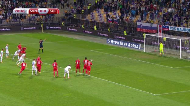 Video «Die Penaltyszene und das Tor von Slowenien» abspielen
