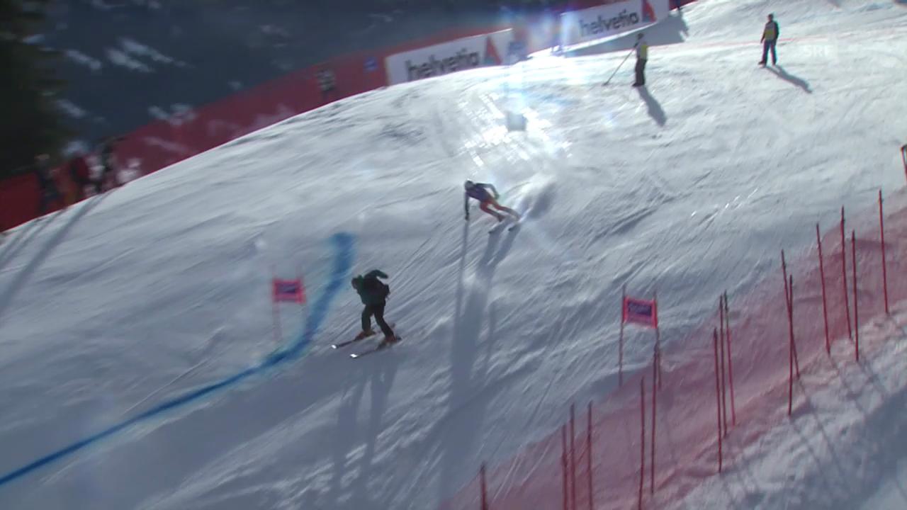 Ski alpin: Riesenslalom Adelboden, Beinahe-Kollision von Henrik Kristoffersen («sportlive», 11.01.2014)
