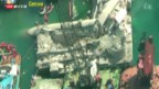 Video «Schiff rammt Kontrollturm bei Genua» abspielen