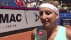 Video «Bacsinszky: «Es war schwieriger als es aussah»» abspielen