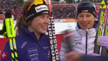 Video «Langlauf: WM-Teamsprint, Interview Boner/Van der Graaff» abspielen