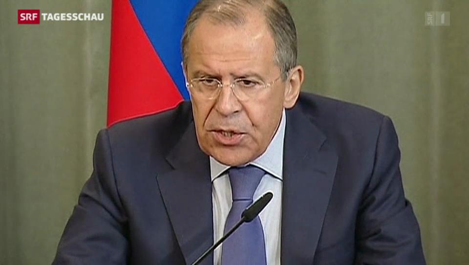 Aussenminister Lawrow kritisiert Ukraine