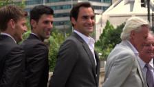 Link öffnet eine Lightbox. Video Federer ist heiss auf den Laver Cup abspielen