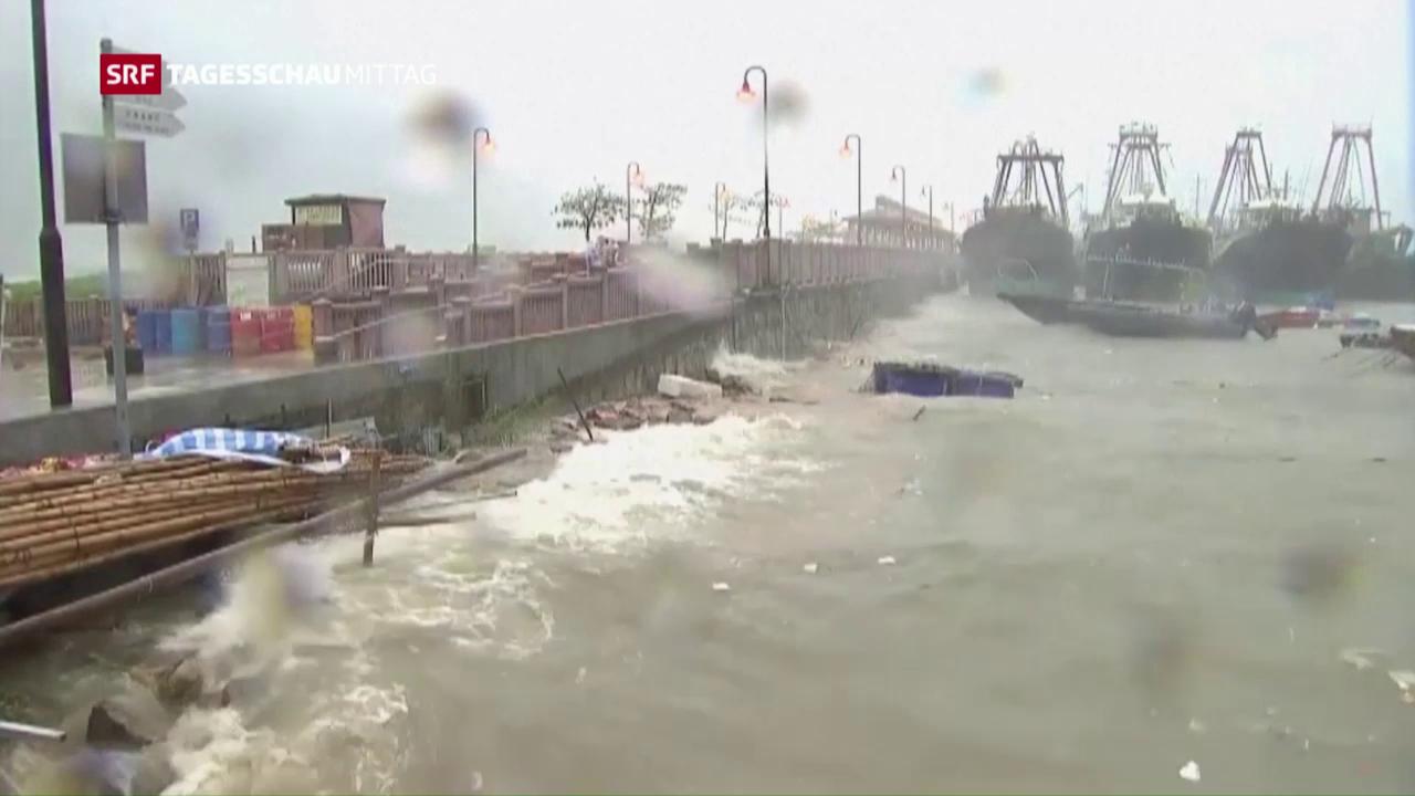Taifun verwüstet Küste von Hongkong