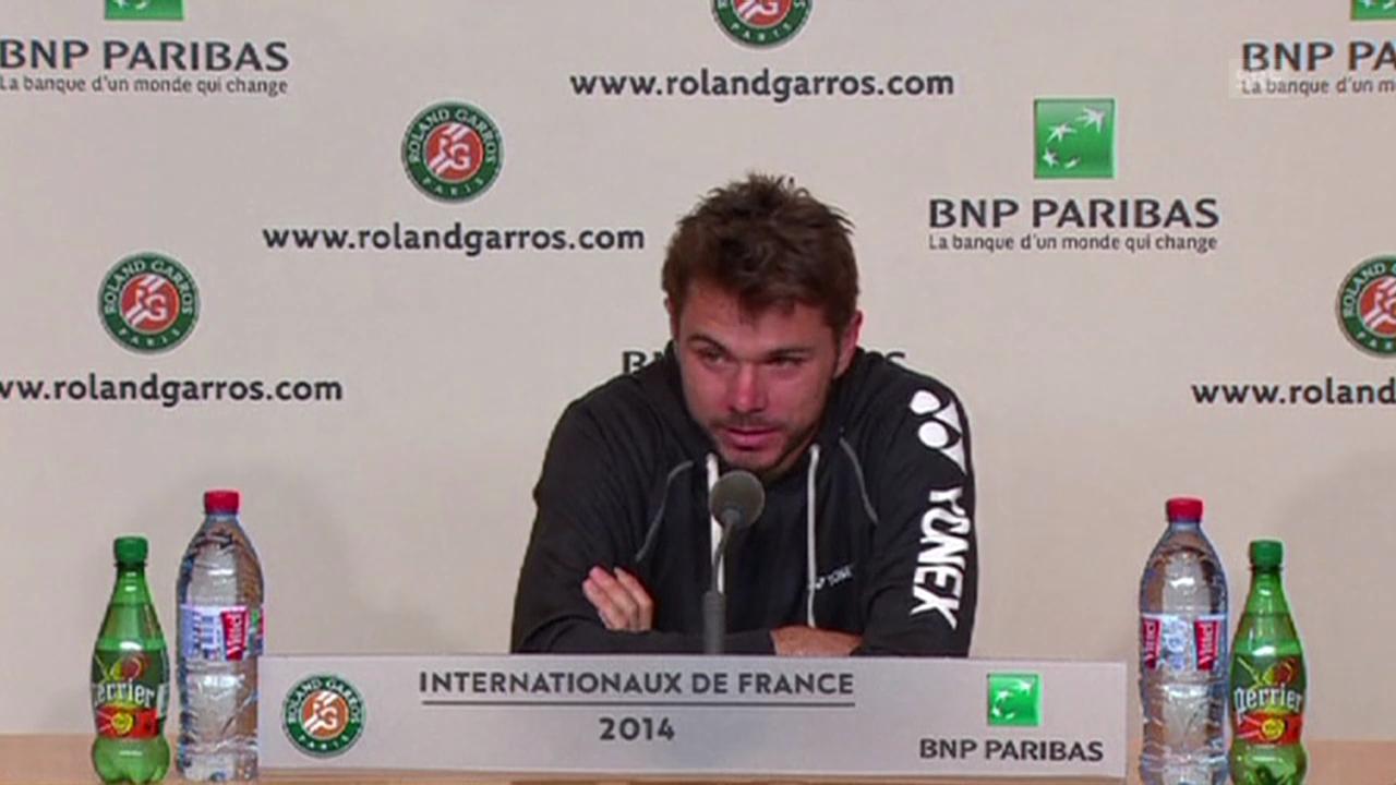 Tennis: French Open, Pressekonferenz Stanislas Wawrinka (26.05.2014)
