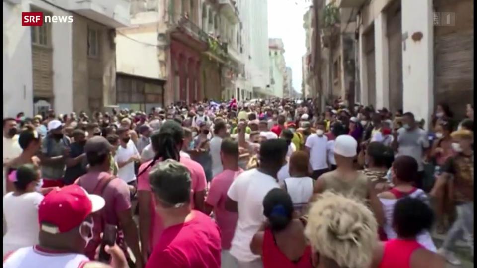 Aus dem Archiv: Tausende demonstrieren in Kuba gegen die Regierung