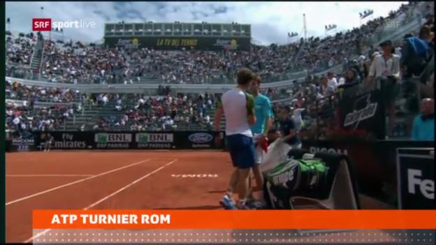 Video «Tennis: Murrays Aufgabe, Janowiczs Sieg» abspielen