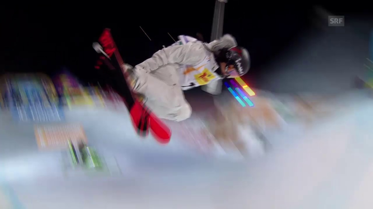 Freeski: Halfpipe, 1. Final-Lauf Virginie Faivre