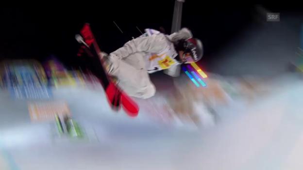 Video «Freeski: Halfpipe, 1. Final-Lauf Virginie Faivre» abspielen