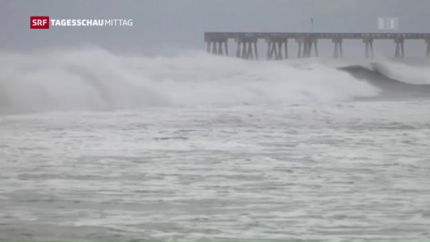 Video «Florida: Hurrikan sorgt zu Stromausfällen und Sturmfluten» abspielen