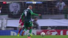 Video «Fussball: Zusammenfassung Sporting - Schalke» abspielen