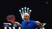 Link öffnet eine Lightbox. Video Federer ringt Isner nieder abspielen