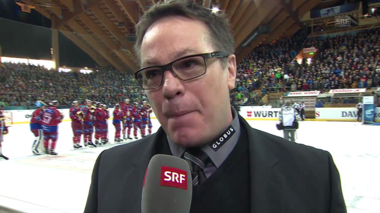Eishockey: Spengler Cup, Interview mit Chris McSorley