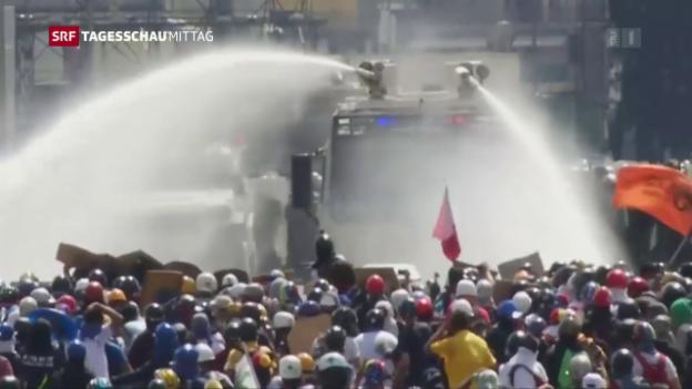 Video «Schwere Proteste in Venezuela» abspielen