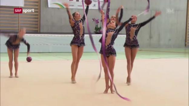 Video «Rhythmische Gymnastik am Turnfest («sportaktuell»)» abspielen