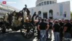 Video «Pompöses Begräbnis für Mafiaboss» abspielen