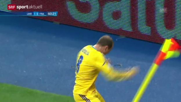 Video «Fussball: WM-Barrage Frankreich - Ukraine («sportaktuell»)» abspielen