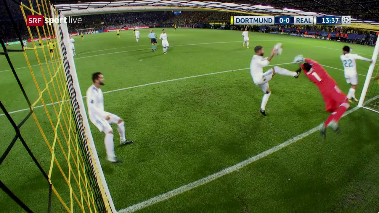 Ramos nimmt die Hand zur Hilfe – keiner sieht's