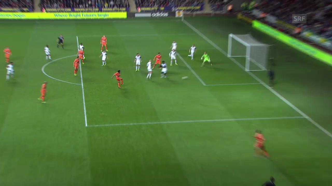 Swansea - Valencia: Parejo Siegestreffer