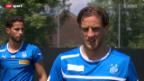 Video «Fussball: Reto Ziegler hält sich bei GC fit» abspielen