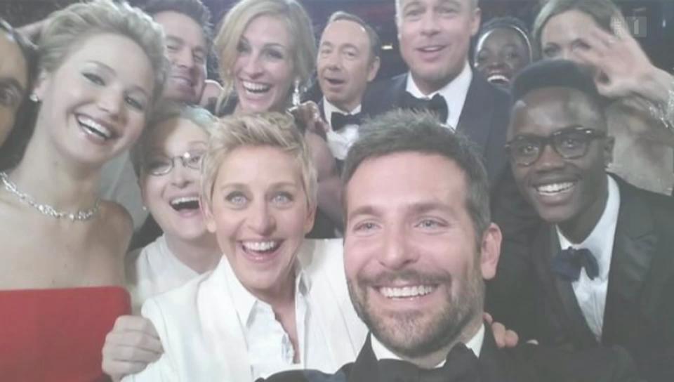 Das berühmteste Selfie der Oscar-Geschichte