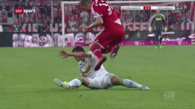 Video «Fussball: Bayern - Mönchengladbach («sportaktuell»)» abspielen