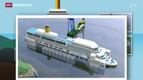 Video «Aufrichtung der Costa Concordia» abspielen