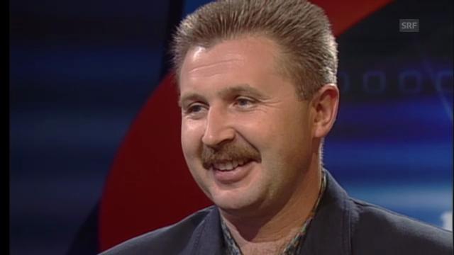 Wassili Tichonow 2001 zu Gast im Sportpanorama