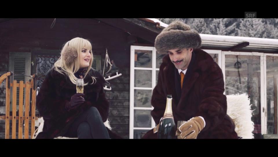 Chic im Schnee: Werbung