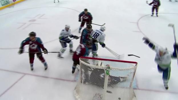 Video «Bärtschi und Sbisa trumpfen bei Vancouvers Sieg über Colorado gross auf» abspielen