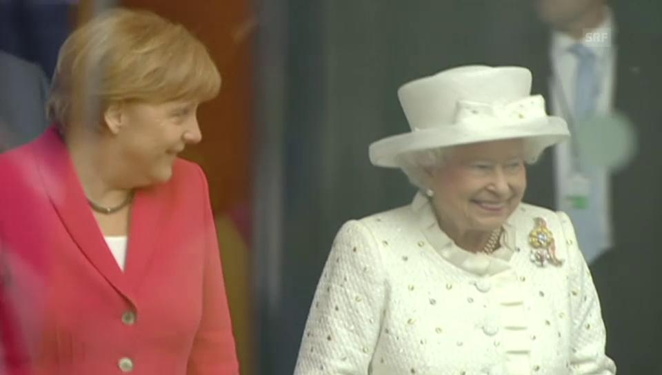 Royaler Besuch bei Angela Merkel