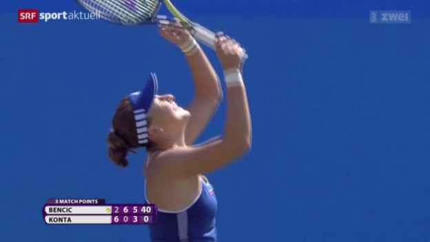Video «Tennis: WTA Eastbourne, Bencic - Konta» abspielen