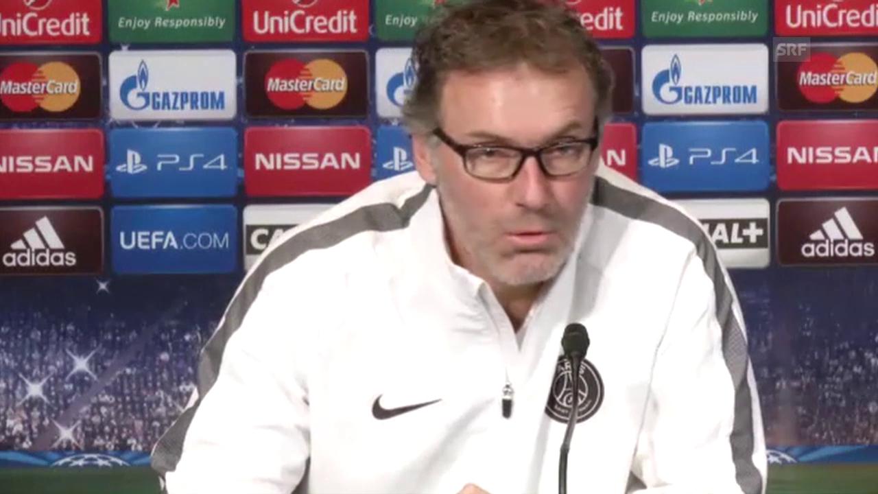 Fussball: PSG-Trainer Laurent Blanc im Interview (Quelle: SNTV)