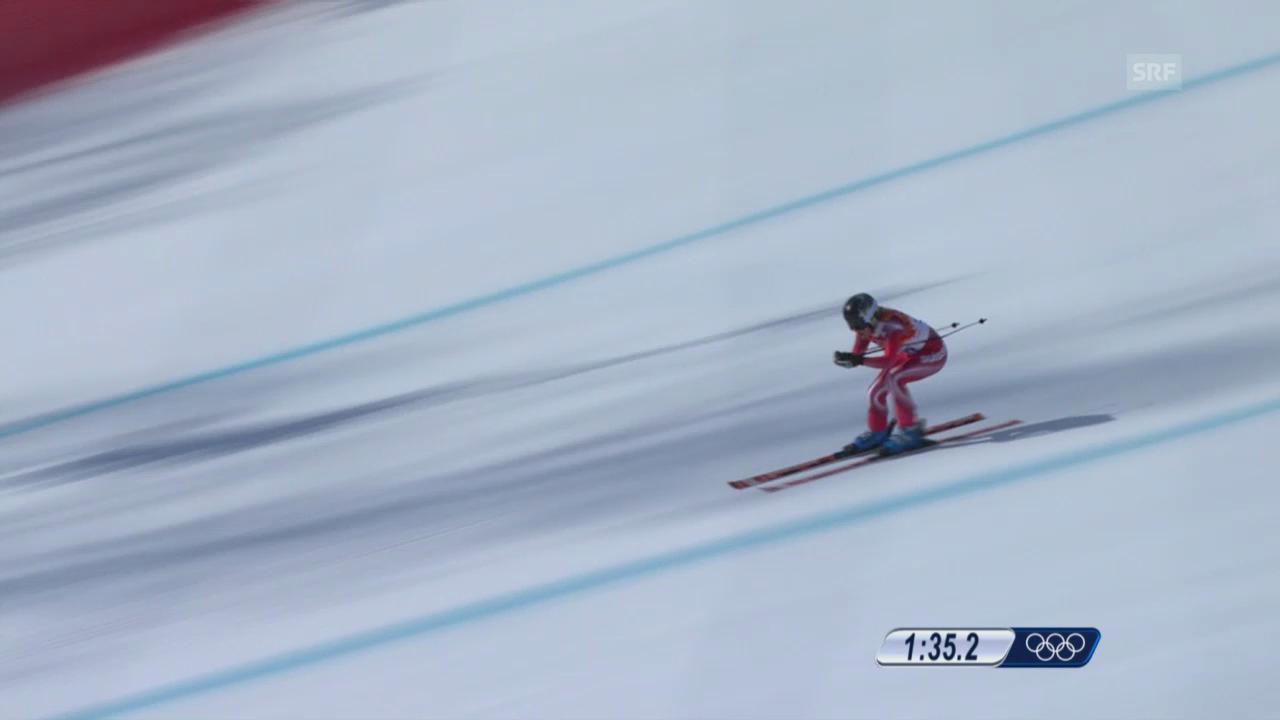 Ski: Kombi-Abfahrt Frauen, Fahrt Lara Gut (sotschi direkt, 10.02.2014)