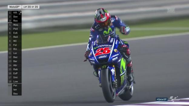 Video «Höhepunkte aus dem MotoGP-Rennen in Katar» abspielen