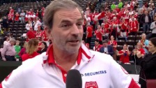 Video «Heinz Günthardt zum Halbfinal-Einzug des Fed-Cup-Teams (englisch)» abspielen