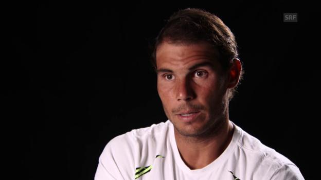 Video «Rafael Nadal vor dem Miami-Final gegen Roger Federer» abspielen