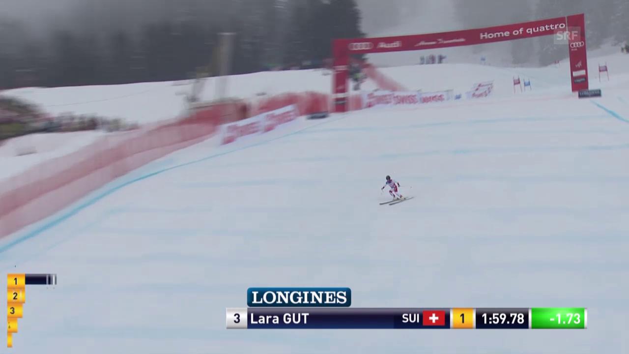 Lara Gut sichert sich den Gesamtweltcup