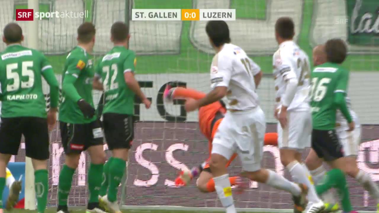 Fussball: SL, St.Gallen - Luzern